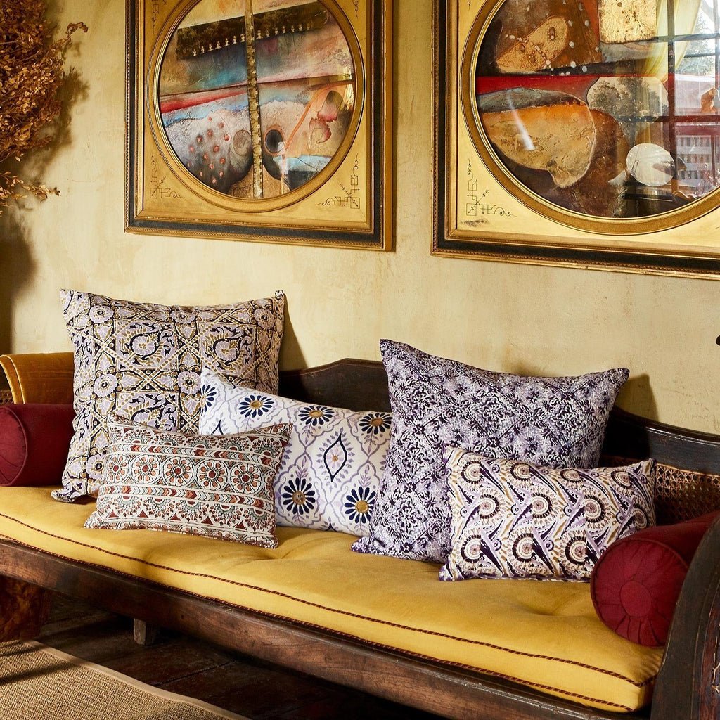 purple and neutral decorative pillows by john robshaw - fig linens