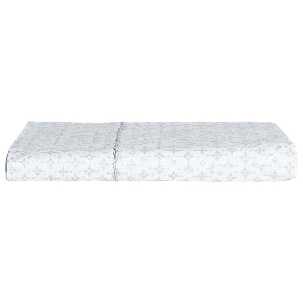 Fig Linens - Pataka Gray Flat Sheet by John Robshaw