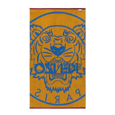 Fig Linens - Majorelle Tiger Beach Towel by Kenzo - Back