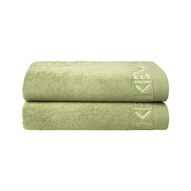 Iconic Pale Mint Bath Sheet and Guest Towels by Kenzo | Fig Linens and Home