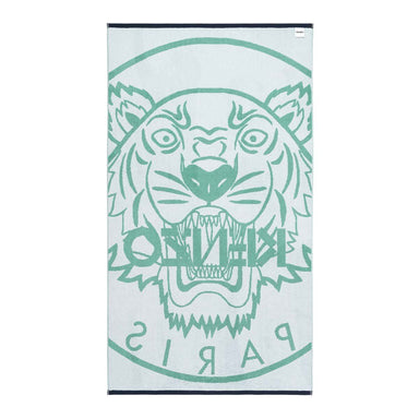 Fig Linens - Jade Tiger Beach Towel by Kenzo - Back