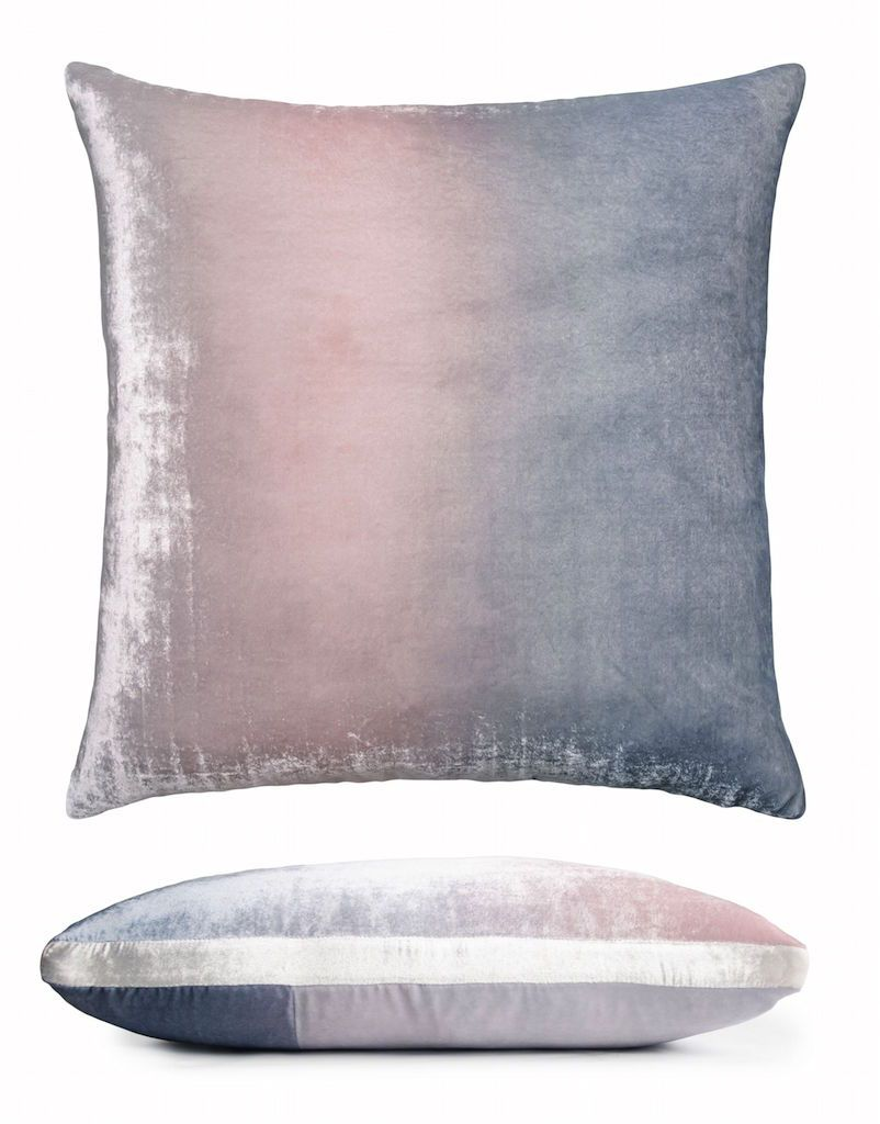 Kevin O'Brien Studio Moonstone Velvet Color Block Pillow - Back - Fig Linens