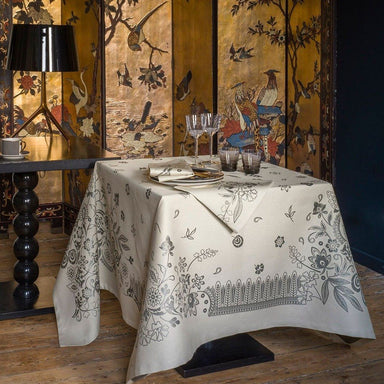 Fig Linens - Haute Couture Cavier Table Linens by Le Jacquard Français