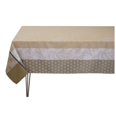 Fig Linens - Le Jacquard Français Nature Urbaine Beige Coated Tablecloth
