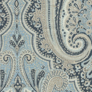 Saratoga Spa Blue Paisley Bedding by Legacy Home | Fig Linens