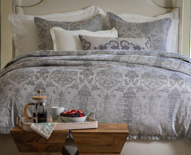 Medici Silver Grey Bedding by Lili Alessandra | Fig Linens and Home