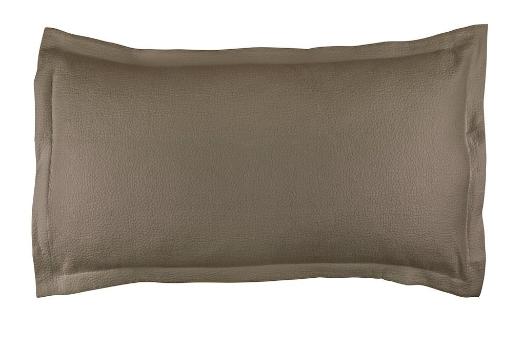 Fig Linens - Gigi Taupe Matelassé King Pillow by Lili Alessandra