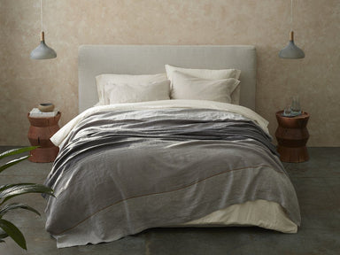 Mojave Gray Organic Linen Blanket by Coyuchi | Fig Linens
