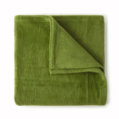 Slumber Olive Blanket by Peacock Alley | Fig Linens and Home