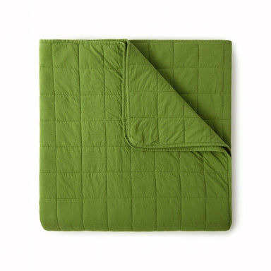 4 Square Olive Coverlet by Peacock Alley | Fig Linens and Home