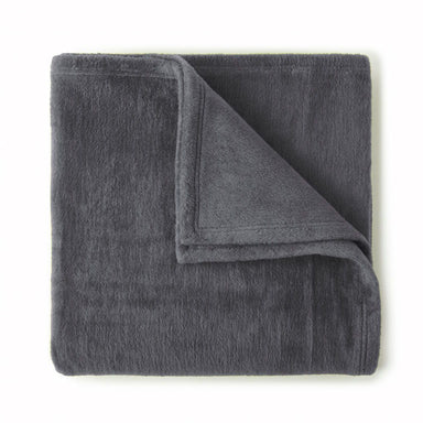 Slumber Charcoal Blanket by Peacock Alley | Fig Linens and Home