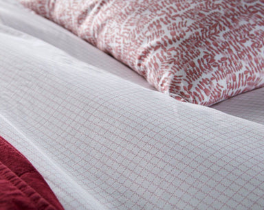 Fig Linens - Berry Grid Bedding by Peacock Alley - Details