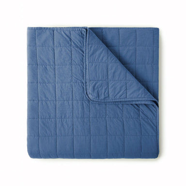 4 Square Denim Coverlet by Peacock Alley | Fig Linens and Home