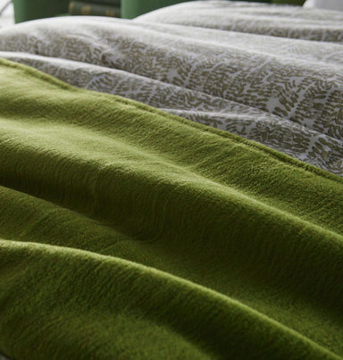 Fig Linens - Slumber Olive Blanket by Peacock Alley - life style