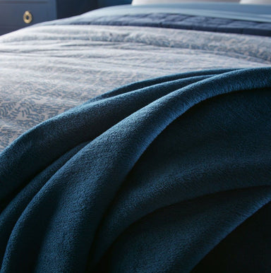 Fig Linens - Slumber Denim Blanket by Peacock Alley