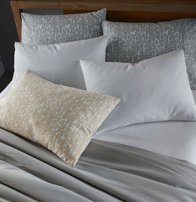 Fig Linens - Charcoal Grid Bedding by Peacock Alley