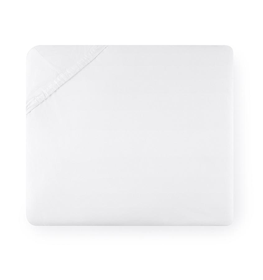Fig Linens - Sferra Grande Hotel Bedding - White fitted sheet