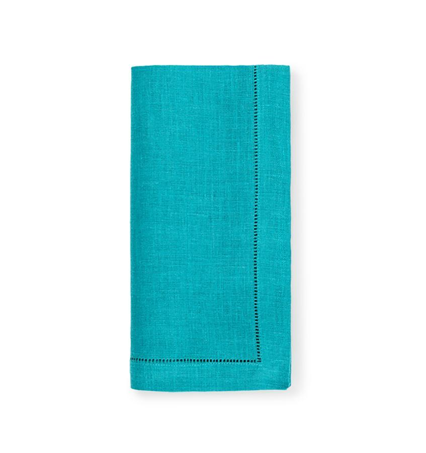 Fig Linens - Sferra Table Linens - Festival Teal Napkins