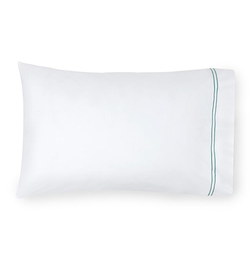 Fig Linens - Sferra Grande Hotel Bedding - White and aqua case