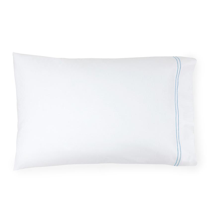 Fig Linens - Sferra Grande Hotel Bedding - White and Blue Case