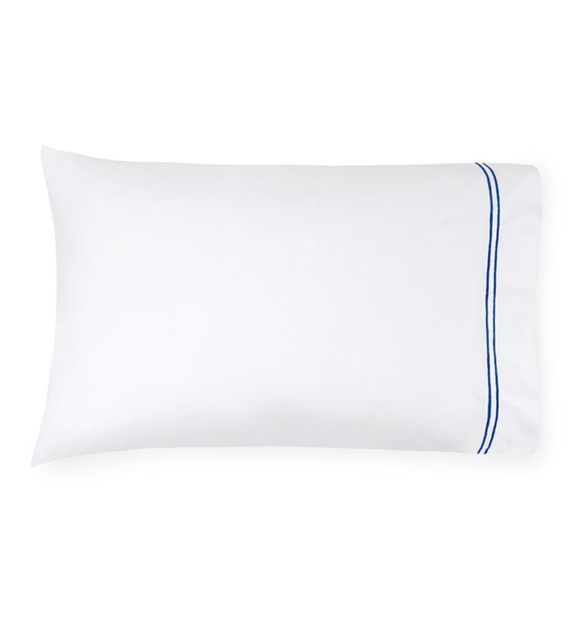Fig Linens - Sferra Grande Hotel Bedding - White and cornflower case