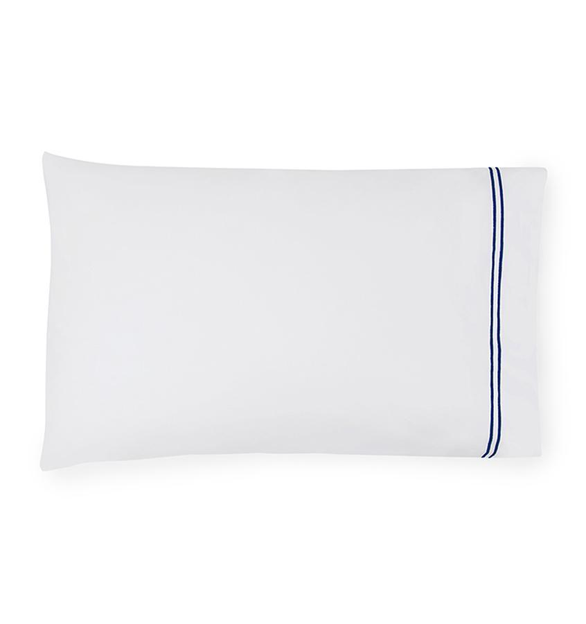 Fig Linens - Sferra Grande Hotel Bedding - White and navy case