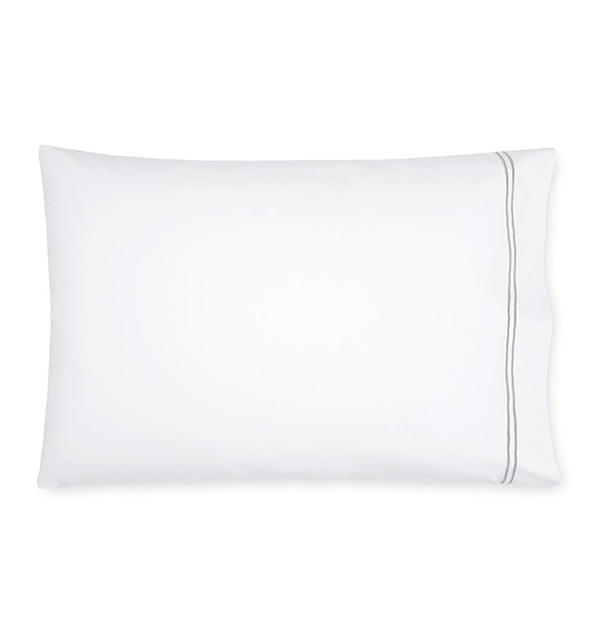 Fig Linens - Sferra Grande Hotel Bedding - White and silver case