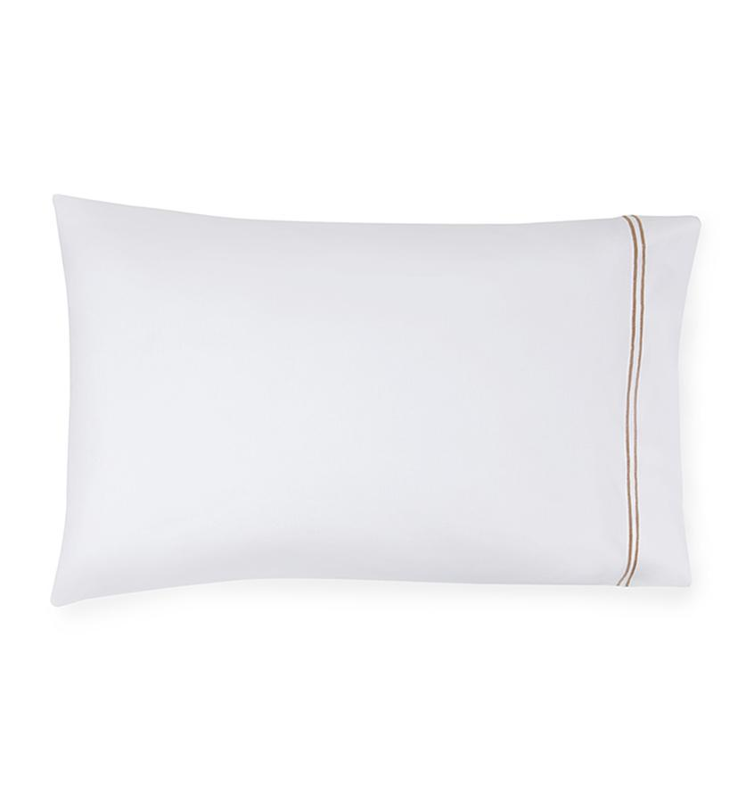 Fig Linens - Sferra Grande Hotel Bedding - White and taupe case