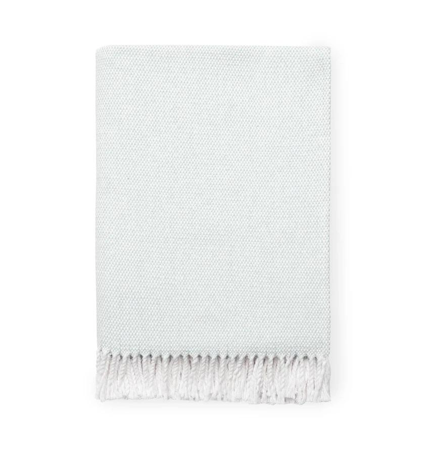 Fig Linens - Terzo Seagreen Throw by Sferra