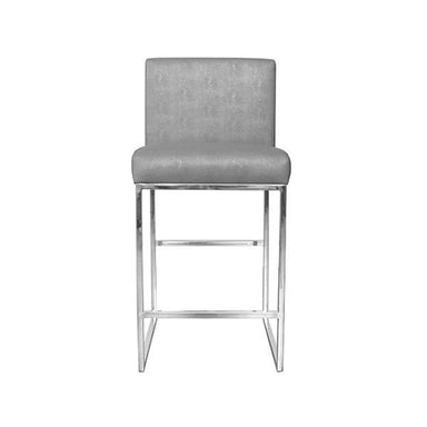 Worlds Away - Kingston Grey Shagreen & Nickel Counter Stool | Fig Linens