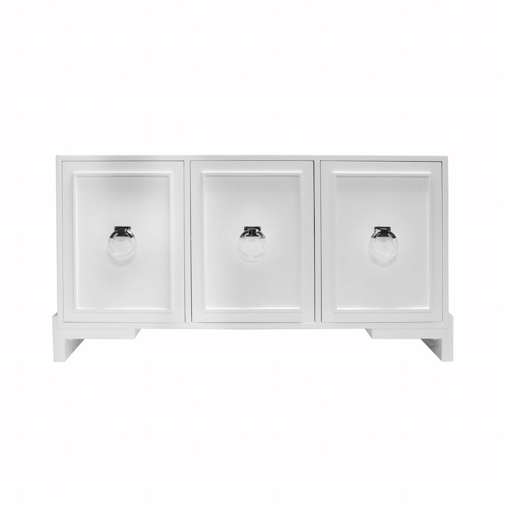Worlds Away - Lyra White Cabinet | Fig Linens