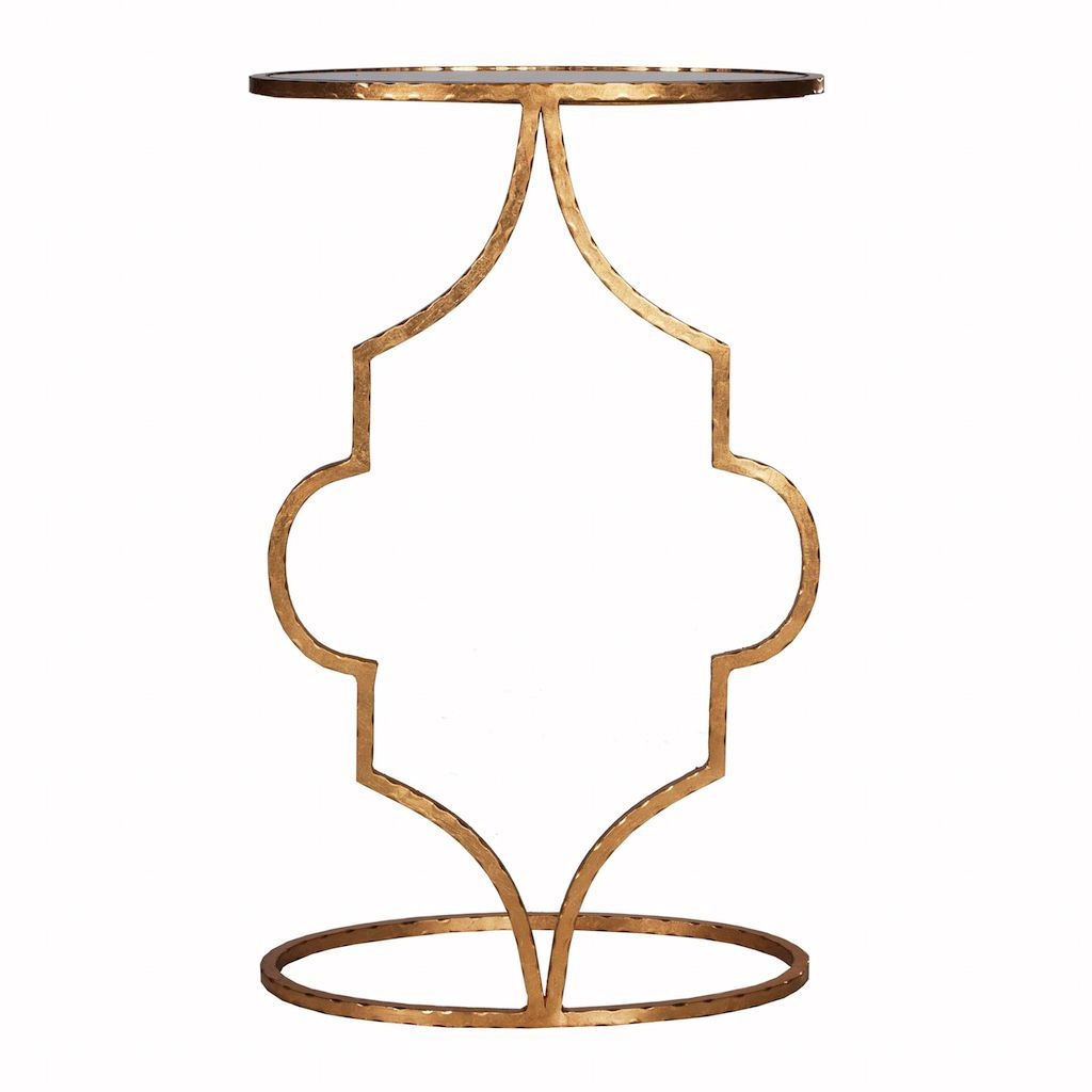 Willa Hammered Gold Oval Cigar Table