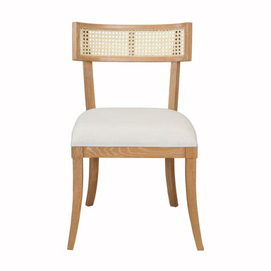 Fig Linens - Worlds Away Britta Cerused Oak Klismos Dining Chair - Front