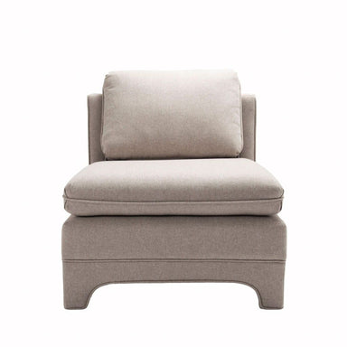 Ansonia Natural Linen Slipper Chair by Worlds Away | Fig Linens