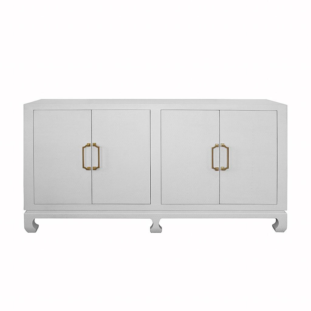 Drayton White 4-Door Buffet by Worlds Away | Fig Linens and Home