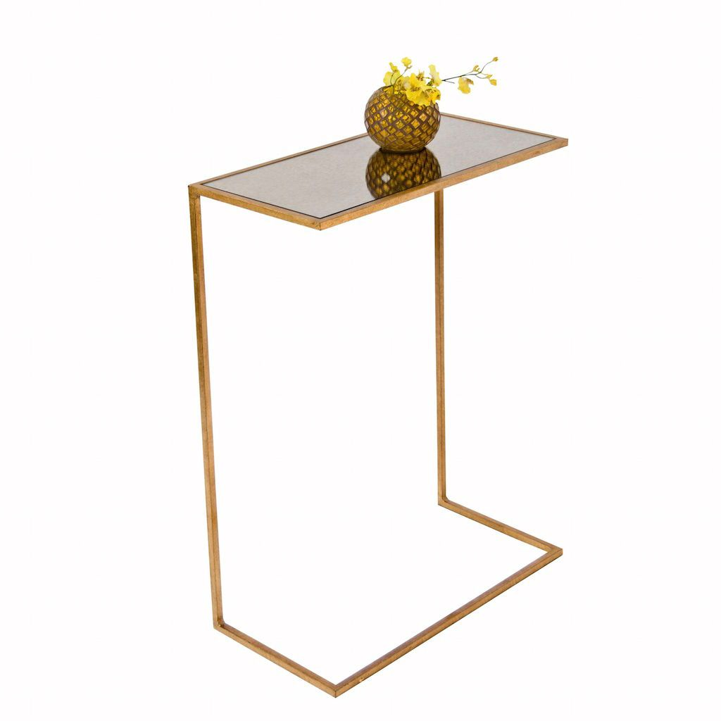 Rico Gold Leaf Cigar Table by Worlds Away