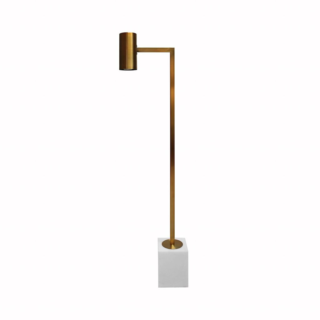 Sadie Antique Brass Floor Lamp by Worlds Away | Fig Linens and Home