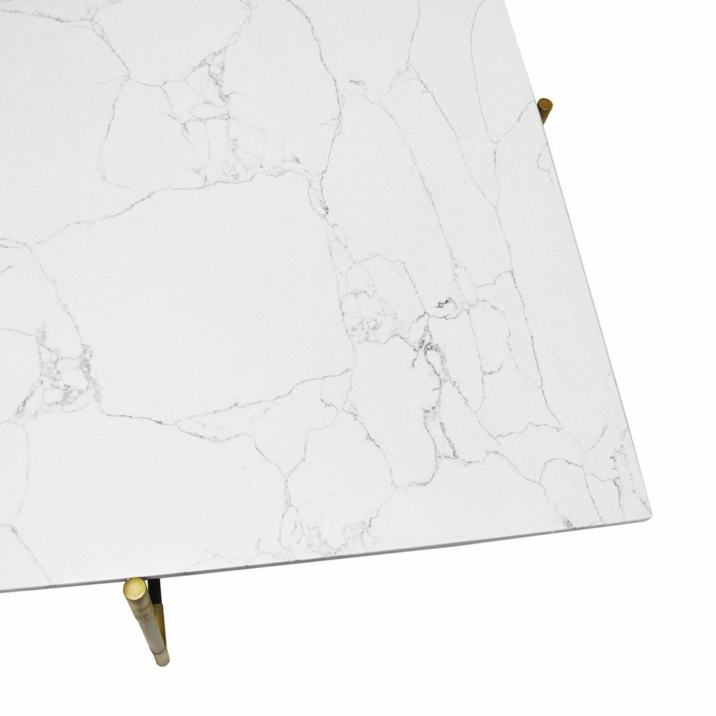 Fig Linens - Worlds Away - Zelda Marble and Black Coffee Table - Marble Top