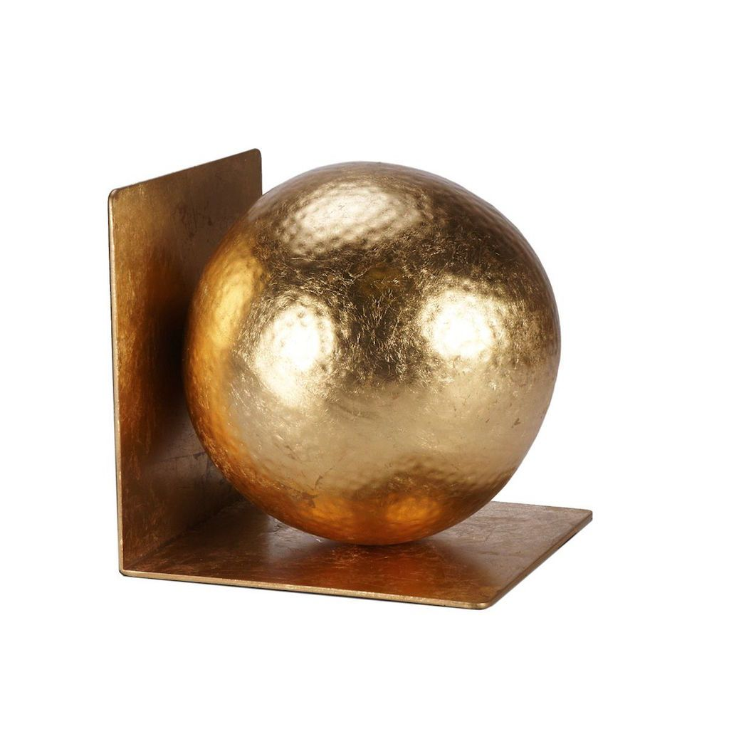 Wilder Gold Hammered Ball Bookends by Worlds Away | Fig Linens