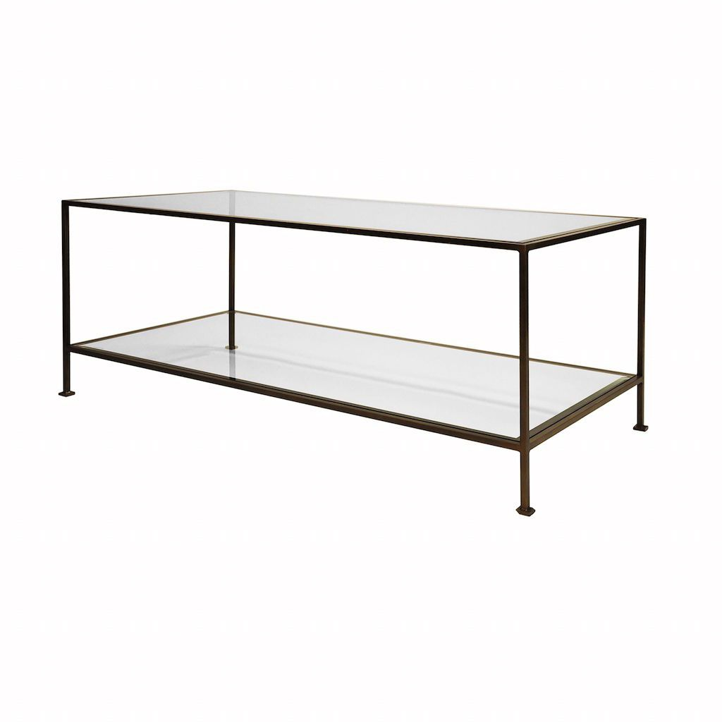 Taylor Bronze & Glass Coffee Table
