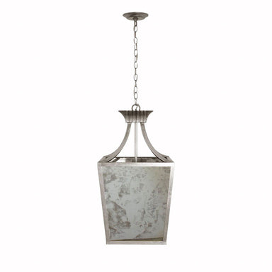 Alister Silver Leaf & Antique Mirror Pendant | Fig Linens and Home