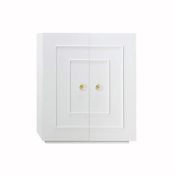 Judd White 2-Door Cabinet by Worlds Away | Fig Linens