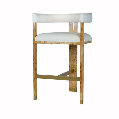 Connery Burl Wood Accent Bar Stool by Worlds Away | Fig Linens