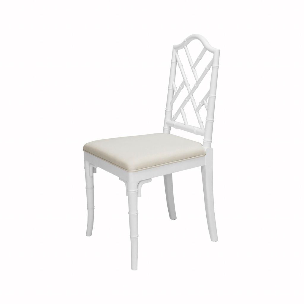 Fairfield White Dining Chair by Worlds Away