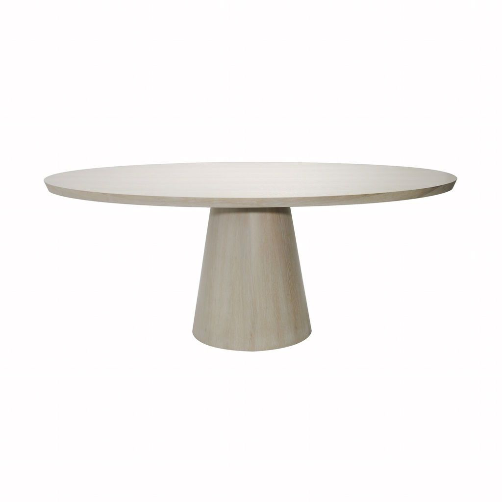 Jefferson Cerused Oak Oval Dining Table | Fig Linens and Home