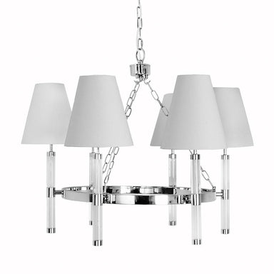 Winifred Nickel Six Light Chandelier by Worlds Away | Fig Linens