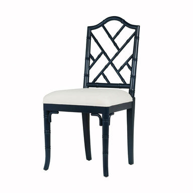 Fairfield Navy Lacquer Dining Chair by Worlds Away | Fig Linens