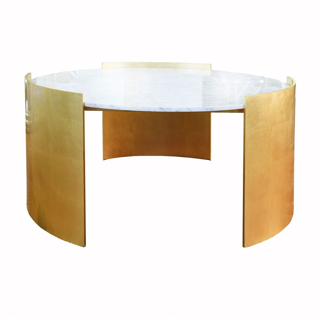 Montana Gold Leaf Coffee Table with Marble Top