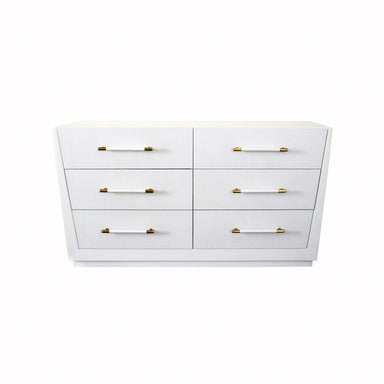 Madden White 6 Drawer Chest by Worlds Away | Fig Linens