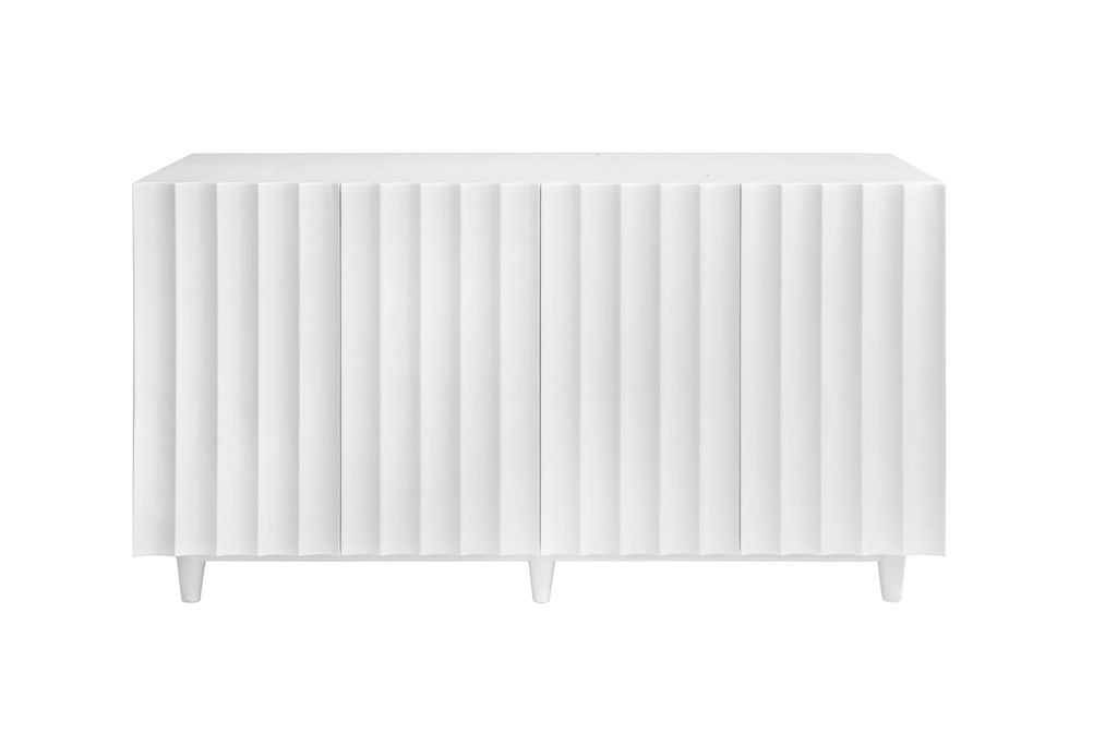 Odette White Cabinet by Worlds Away